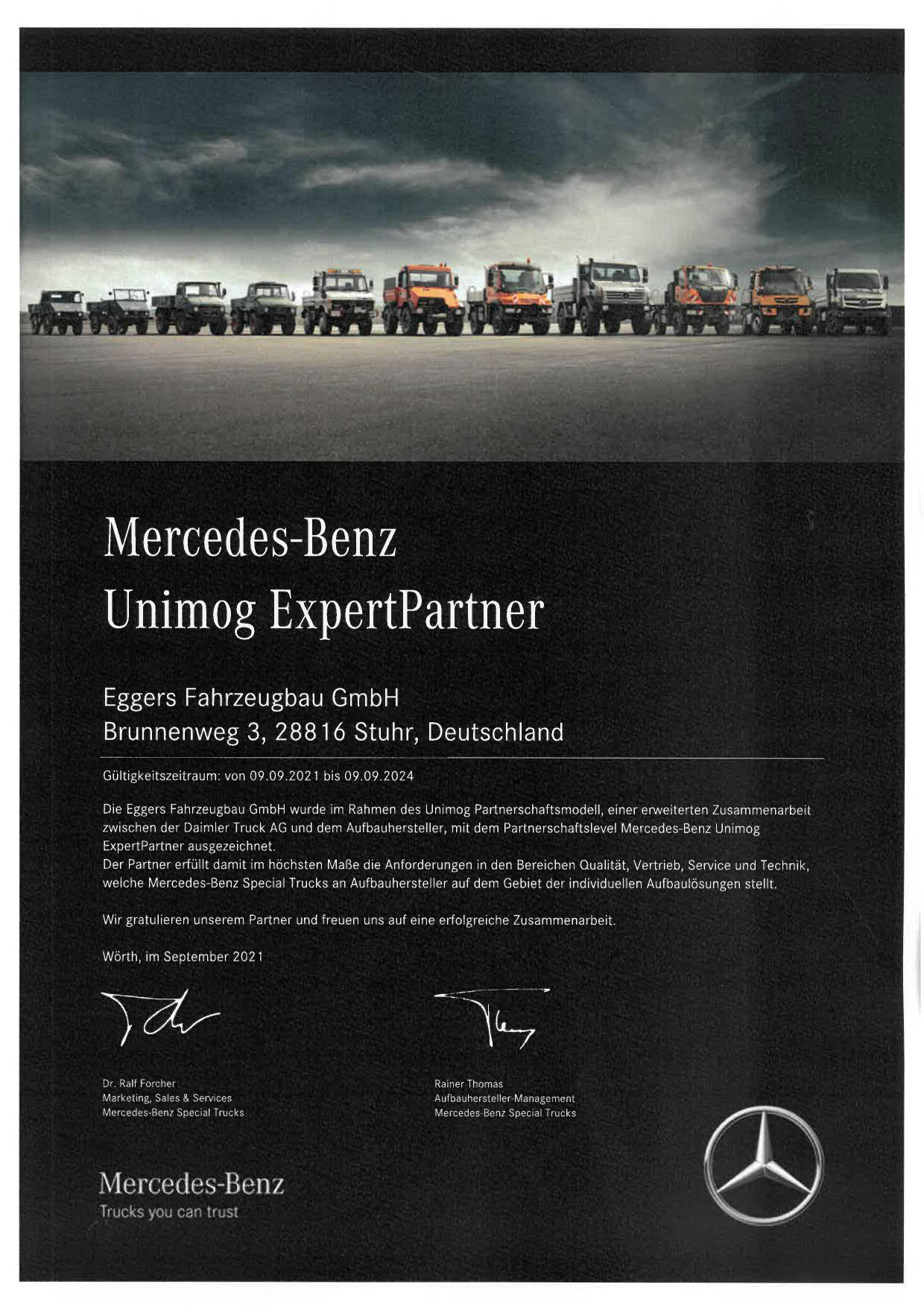 Unimog_Zertifikat